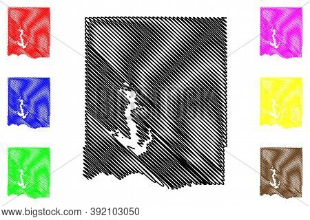 Jefferson County, Kansas (u.s. County, United States Of America, Usa, U.s., Us) Map Vector Illustrat