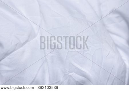White Color Abstract Texture Of White Fabric Background And Have Copy Space For Text.