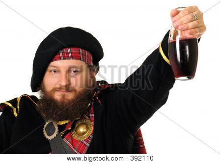 scottish warrior celebrating the victory poster
