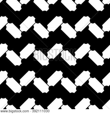 Abstract. Zigzag Lines Wallpaper. Repeated Figures Background. Slabs Tessellation. Seamless Surface