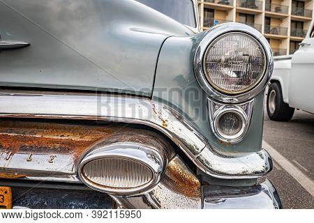 Tybee Island, Ga - October 3, 2020: 1953 Oldsmobile Super 88 Sedan At A Local Car Show.