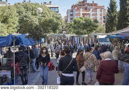 L'hospitalet De Llobregat, Spain - October 11th 2020: Editorial Photo Of A Hospitalet De Llobregat S