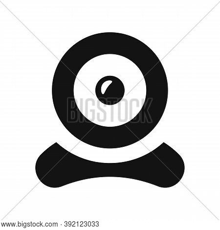 Webcam Sign Vector Icon Template. Digital Black Isolated Webcam Icon Design.