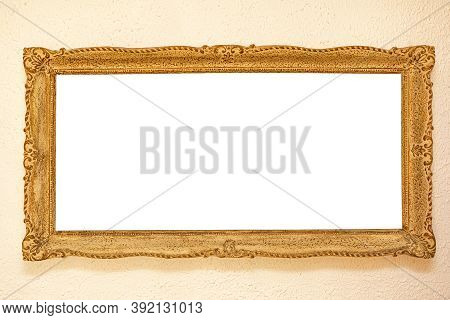 Big Engraved Panorama Picture Frame At Wall