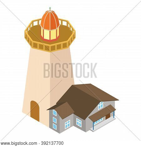 Navigation Beacon Icon. Isometric Illustration Of Navigation Beacon Vector Icon For Web