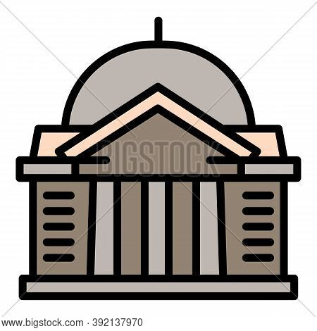 City Courthouse Icon. Outline City Courthouse Vector Icon For Web Design Isolated On White Backgroun