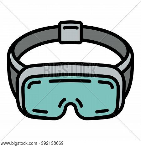 360 Vr Goggles Icon. Outline 360 Vr Goggles Vector Icon For Web Design Isolated On White Background