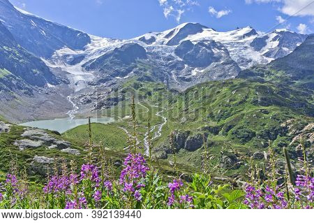 Susten Pass, Natural Landscape In Alps, Switzerland, Europe