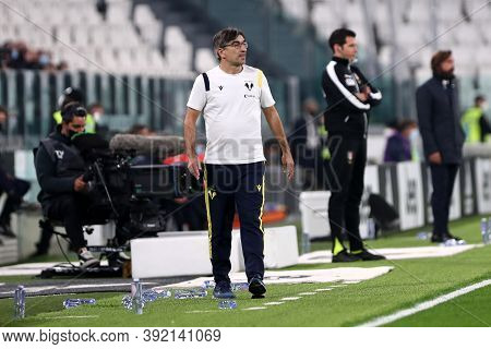 Torino, Italy. 25th October 2020. Ivan Juric Head Coach Of Hellas Verona Fc In Action During The Ser