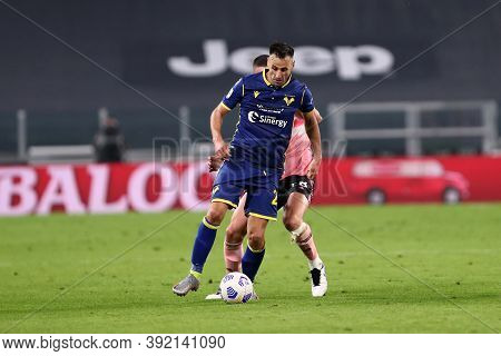 Torino, Italy. 25th October 2020. Nikola Kalinic Of Hellas Verona Fc In Action During The Serie A Ma