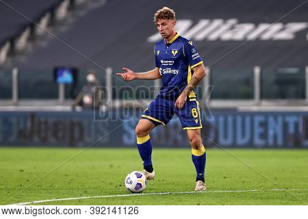 Torino, Italy. 25th October 2020. Matteo Lovato Of Hellas Verona Fc In Action During The Serie A Mat