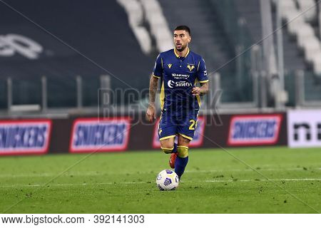 Torino, Italy. 25th October 2020. Mattia Zaccagni Of Hellas Verona Fc In Action During The Serie A M