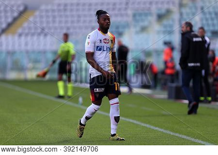 Torino, 28th October 2020. Claud Adjapong Of Us Lecce In Action   During The Coppa Italia Match  Bet