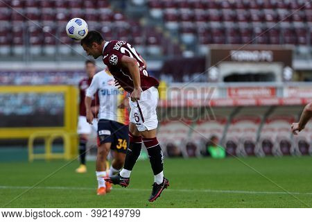 Torino, 28th October 2020. Federico Bonazzoli  Of Torino Fc In Action   During The Coppa Italia Matc