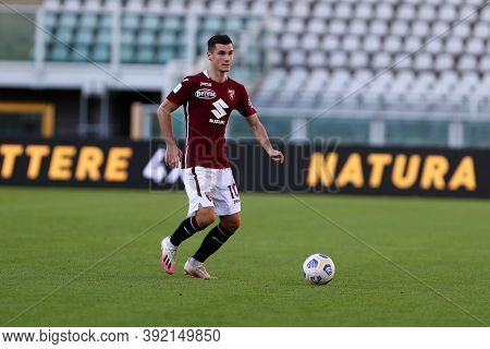 Torino, 28th October 2020. Amer Gojak Of Torino Fc In Action   During The Coppa Italia Match  Betwee