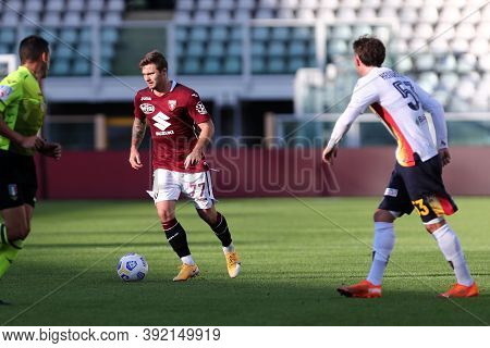 Torino, 28th October 2020. Karol Linetty Of Torino Fc In Action   During The Coppa Italia Match  Bet