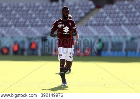 Torino, 28th October 2020. Nicolas N'koulou Of Torino Fc In Action   During The Coppa Italia Match