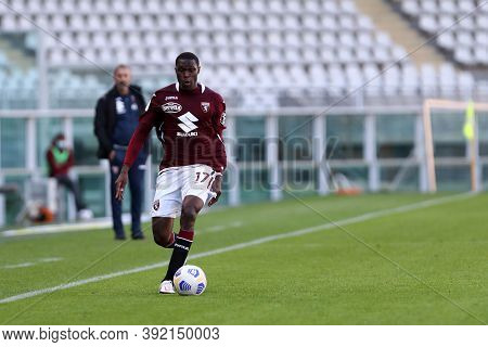 Torino, 28th October 2020. Wilfried Singo Of Torino Fc In Action   During The Coppa Italia Match  Be