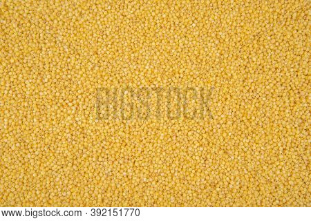 Millet Texture - Top View And Closeup On Millet Grains