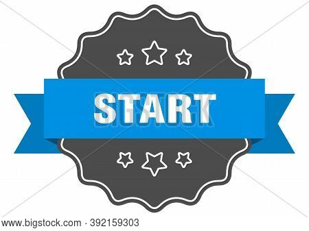 Start Label. Start Isolated Seal. Sticker. Sign