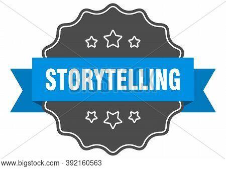 Storytelling Label. Storytelling Isolated Seal. Sticker. Sign