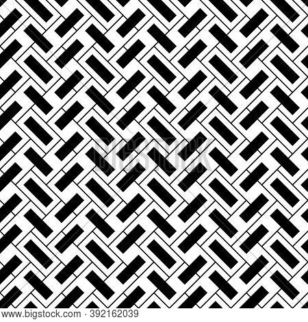 Geometrical Abstract. Slanted Rectangle Slabs. Herringbone Pattern. Seamless Surface Design With Til