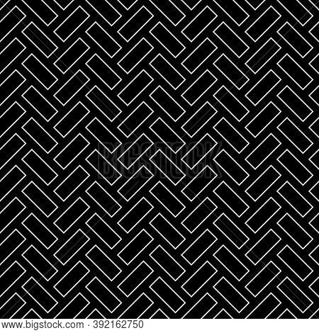 Herringbone Pattern. Rectangles Slabs Tessellation. Seamless Surface Design With Slanted Blocks Tili