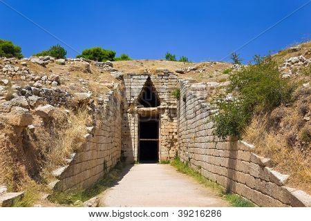 Treasury In Mycenae Town, Greece
