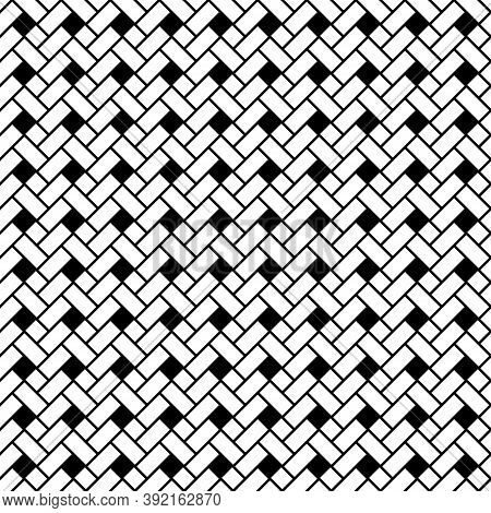 Geometric Pattern. Rectangles, Rhombuses Image. Seamless Surface Design With Slanted Blocks Tiling.