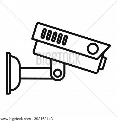 Airport Security Camera Icon. Outline Airport Security Camera Vector Icon For Web Design Isolated On