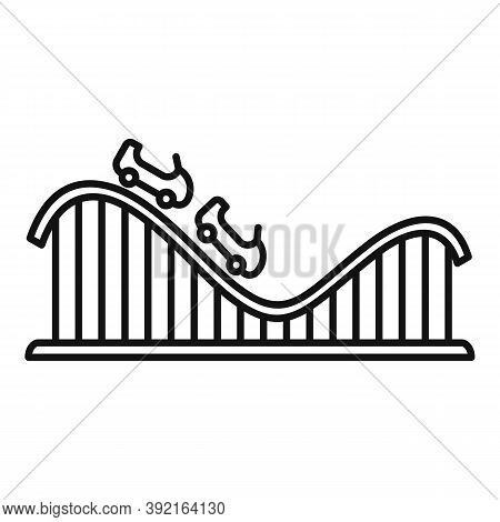 Roller Coaster Carousel Icon. Outline Roller Coaster Carousel Vector Icon For Web Design Isolated On