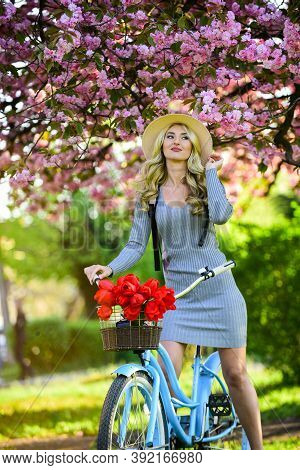 Rest And Travel. United With Nature. Travel By Bike. Weekend Concept. Spring Holidays. Riding Bicycl
