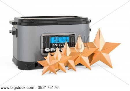 Customer Rating Of Sous Vide Machine, Concept. 3d Rendering Isolated On White Background
