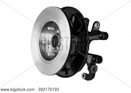 New Car Suspension Element, Brake Disc With Hub And Lever