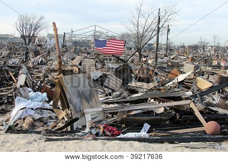 Hurrikan Sandy Zerstörung