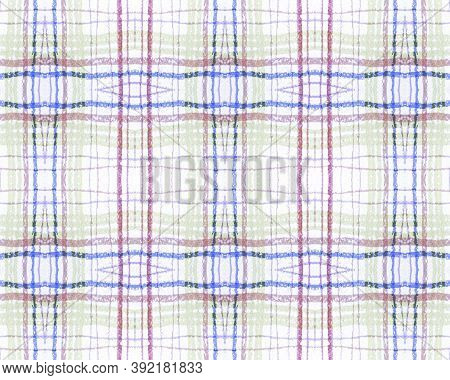 Green And Red Tartan Prints. Seamless Checkered Wool. Scottish Check Fabric. Rustic Graphic Material