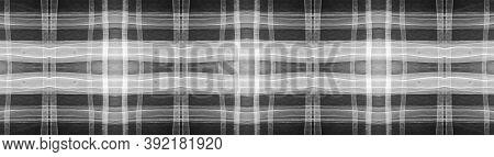 Buffalo Checks. Watercolor Tartan Material. Woven Traditional Squares For Kilt Design. Seamless Blac