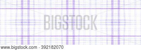 Purple Flannel Checks. Watercolor Picnic Blanket. Man Gingham Background. Seamless Flannel Checks. B