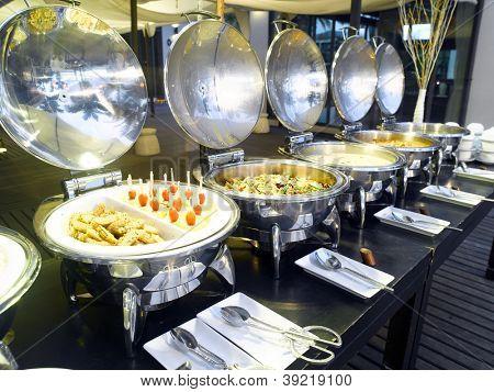 Buffet ready in an hotel