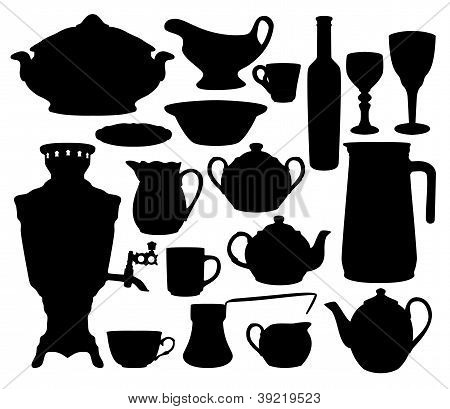 Dishes Silhouettes Set