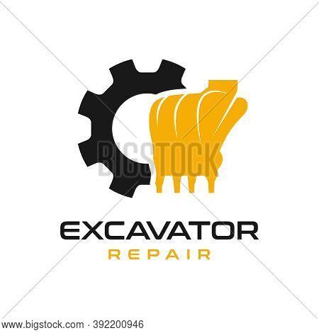 Excavator Engine Repair Logo Design Or Your Brand