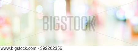 Blur Retail Store Shop Background, Blurred Grocery Product Shelf Backdrop Copy Space For Business Di