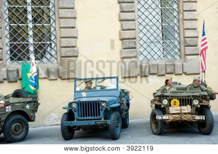 American Soldiers Military Vehicles Parade