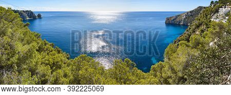 Mediterranean Coastline In Spain. Alicante. Castell De La Granadella Viewpoint