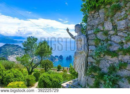 Capri, Italy - Beautiful View On The Anacapri In Capri Island, Italy