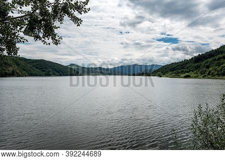 Calm Morning On Peaceful Lake Celije In Serbia