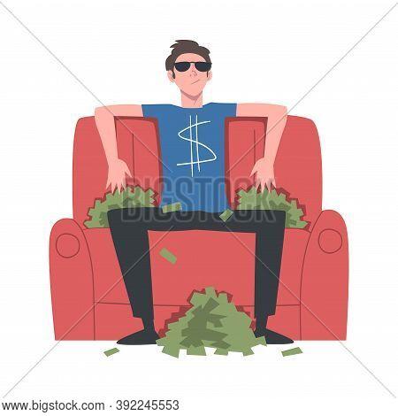 Rich Businessman, Wealthy Person, Millionaire Character, Financial Success, Profit, Income Concept C