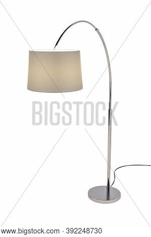 Floor Lamp On White Background - Copy Space - 3d Render