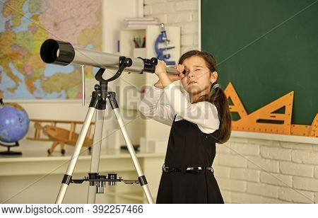 School Hobby Club. Observation Concept. Astronomy And Astrophysics. Stars And Galaxies. Study Telesc