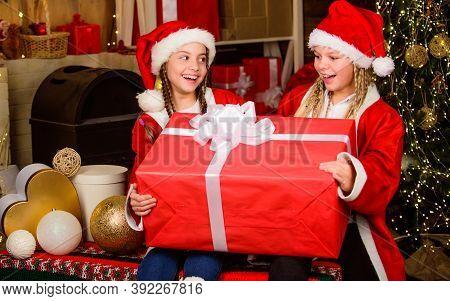 Winter Masquerade. Happiness And Joy. Santa Crew. Girls Friends Sisters Santa Claus Costumes Receive